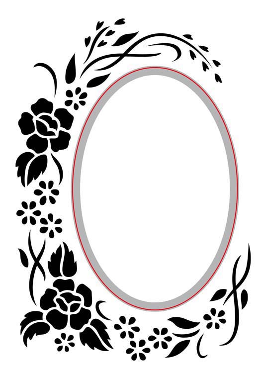 Ecstasy Crafts Nellie's Choice - Embossing/die Cut Folder Oval Floral