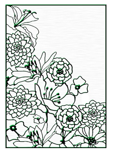 Ecstasy Crafts Embossing Folders - Flower Corner 1