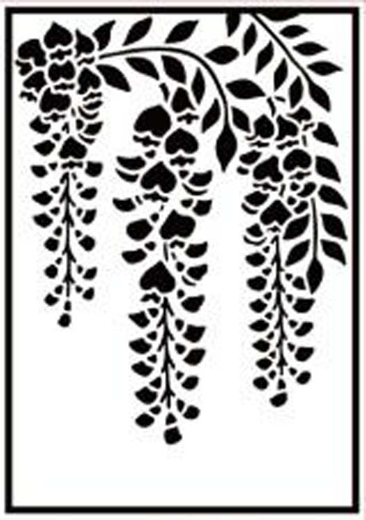 Nellie's Choice Hobby Solution Embossing Folder - Wisteria