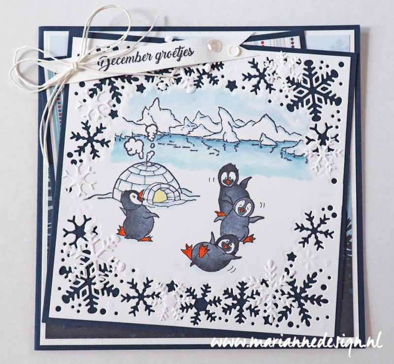 Ecstasy Crafts Marianne Design Stamps Hetty's Polar Ice