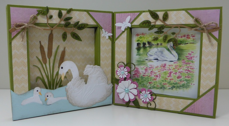 Tiny's Swans 2 Cutting Sheet