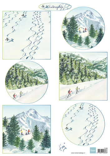 Ecstasy Crafts Marianne Design Cutting Sheet Tiny's Winter Landscapes 2