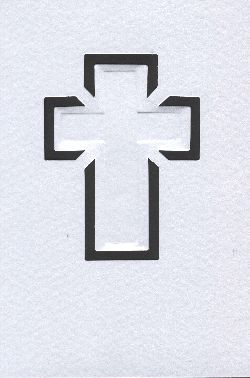Cards/Envl - Cross motif - SATIN