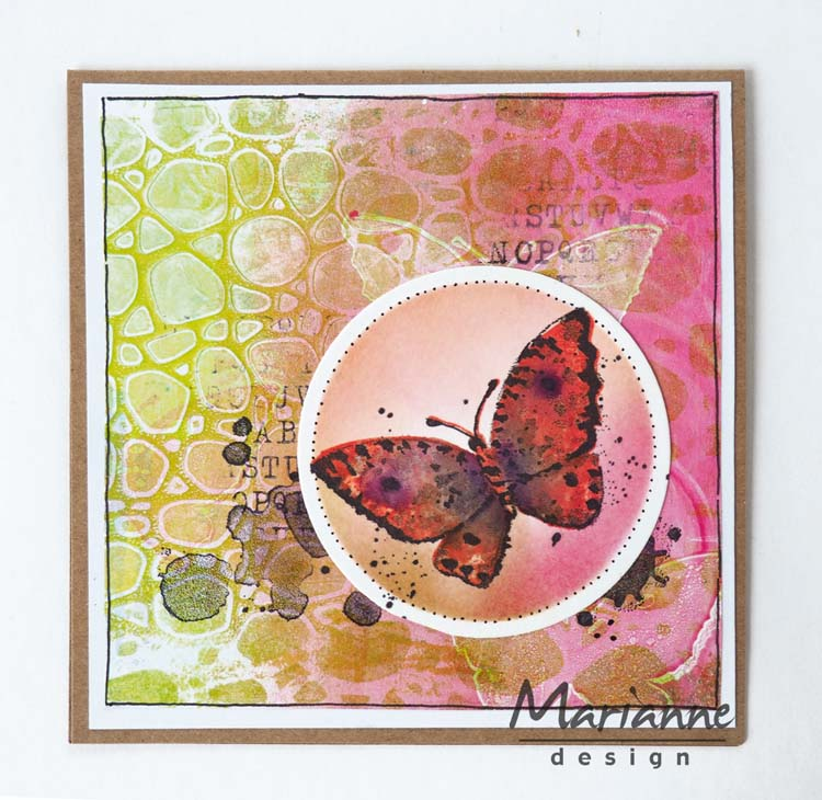 Ecstasy Crafts Marianne Design Stamps Tiny's Butterfly 2