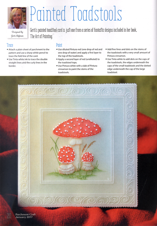 Ecstasy Crafts Parchment Craft Magazine - January 2017