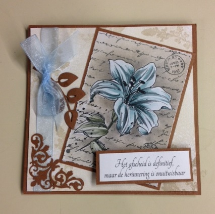 Clear Stamps - Lily with Script -2