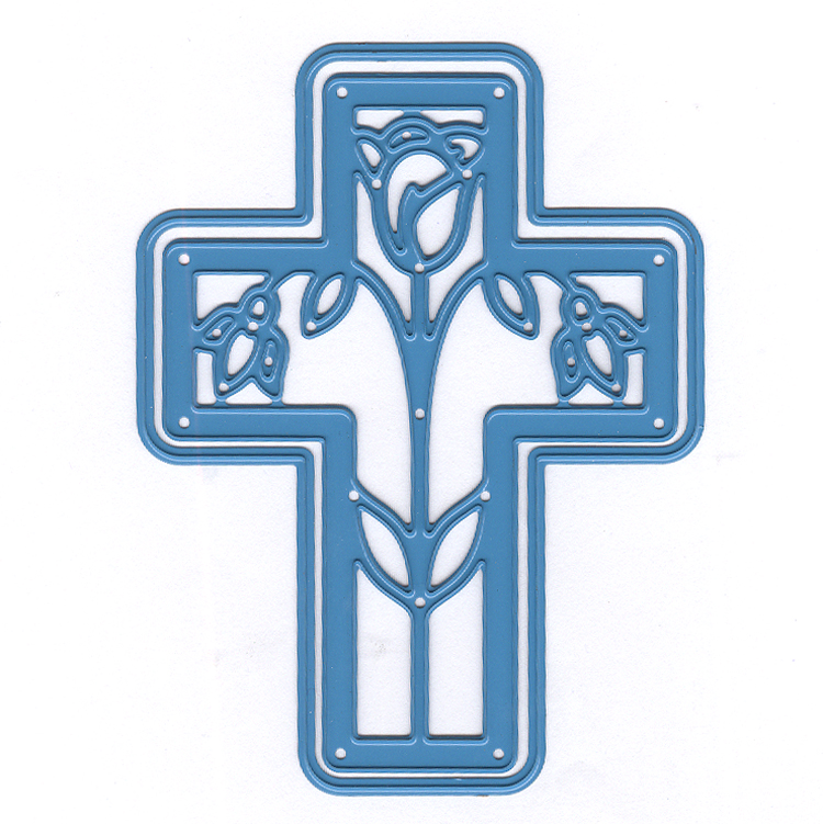 Nellie's Choice - Shape Die Blue Easter Cross