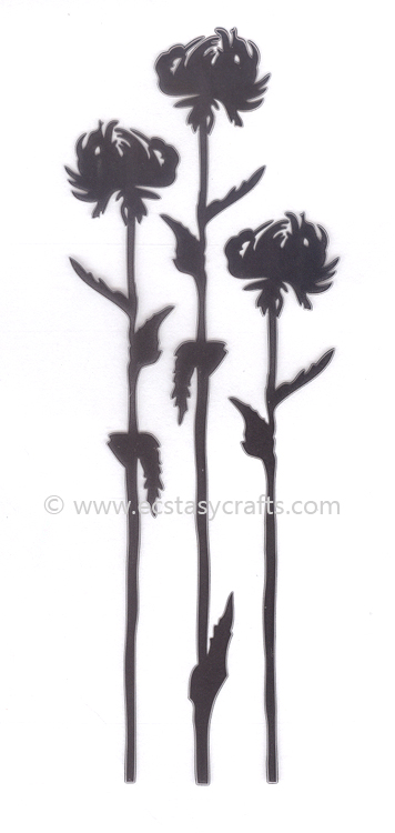 Ecstasy Crafts Silhouette Clear Stamp - Flower 7