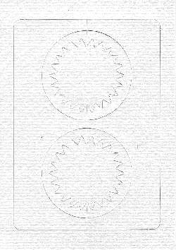 Ecstasy Crafts Spirelli Cards/templates Double Circles White & Yellow (sp2532