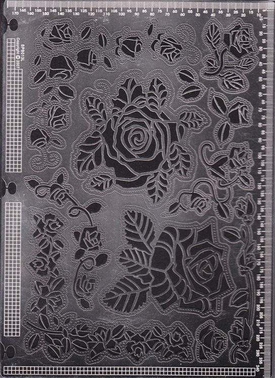 Ecstasy Crafts Exclusive Templates Large -Roses