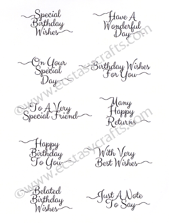 Creative Expressions Petite Scribbled Sentiments 'everyday' Clear Stamp Set