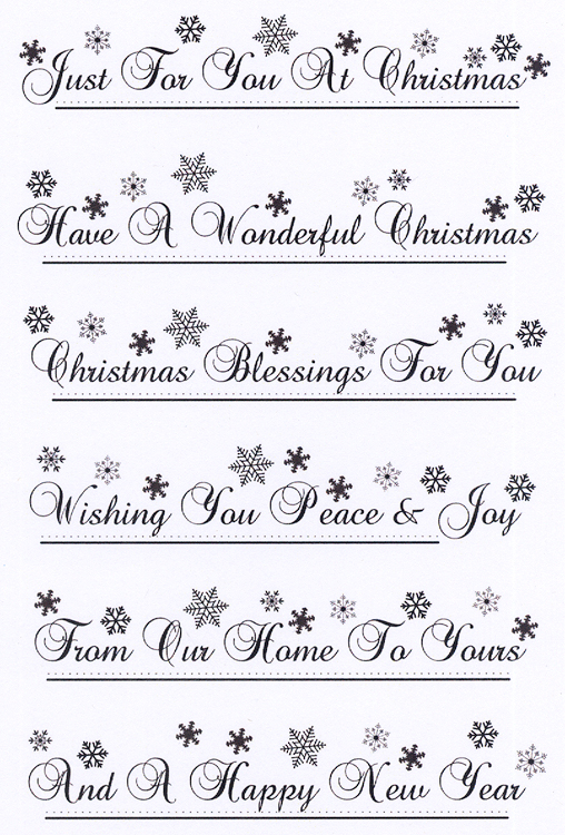 Snowflakes Sentiments Border Clear Stamp Set