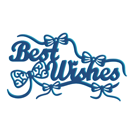 Tattered Lace Die - Best Wishes with Embellishments