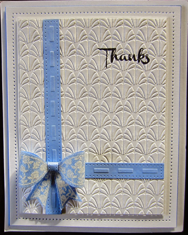 Creative Expressions Foam Mounted Cling Stamps - Floral Bow