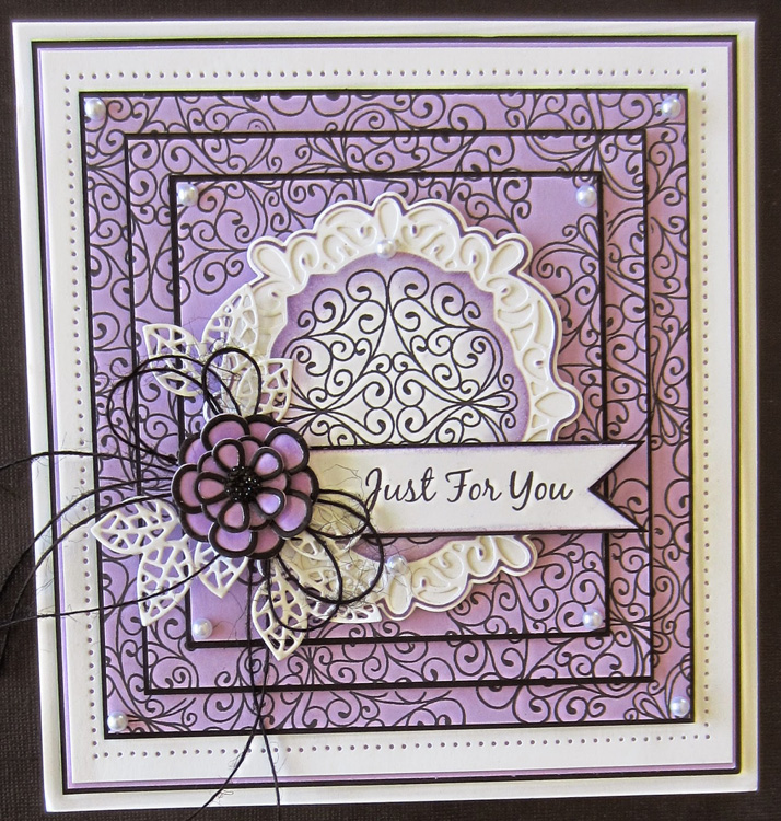 Ecstasy Crafts Foam Mounted Cling Stamps - Wrought Iron Swirls