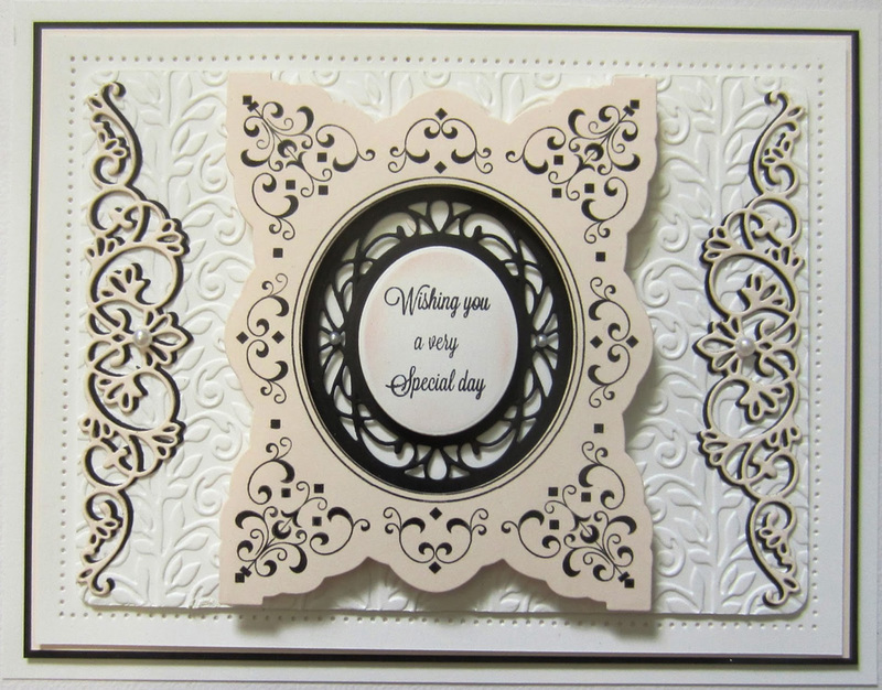 Creative Expressions Stamps - Alexandra's Scrolls & Squares