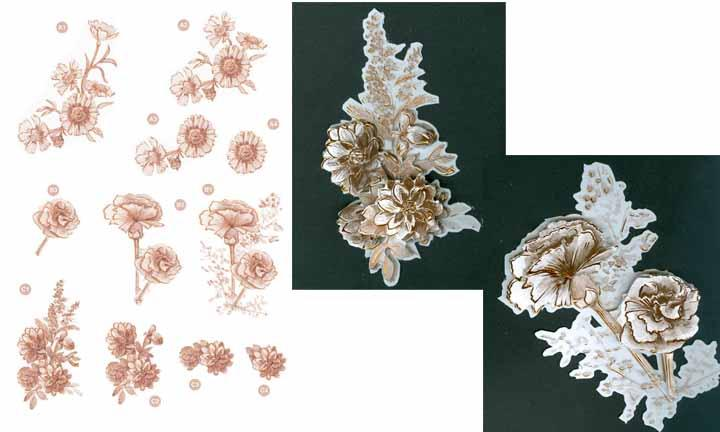 Craft UK Copper Flowers -carnations
