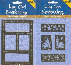 Stencils Lay Out Embossing - Stars