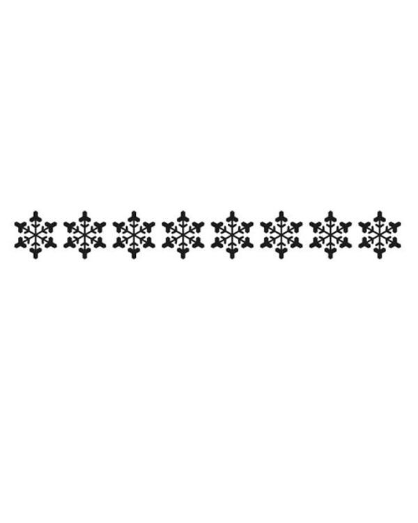 Nellie's Choice Border Embossing Folder - Snowflake Border