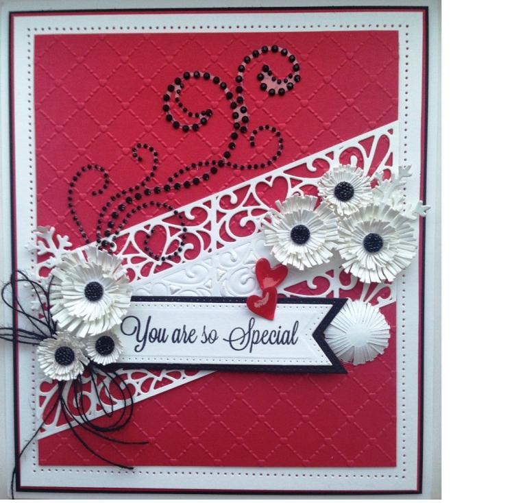 Creative Expressions Sue Wilson Dies - Diagonals Collection - Love Hearts