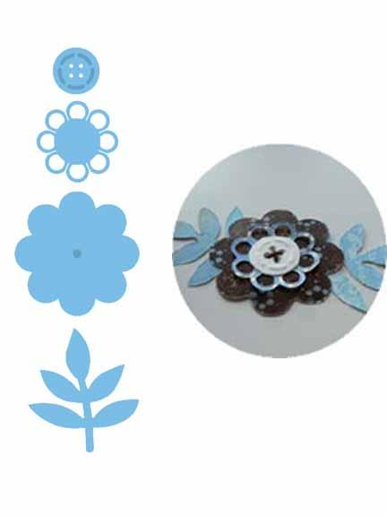 Marianne Design: Creatables Dies - Flower Button Assembly