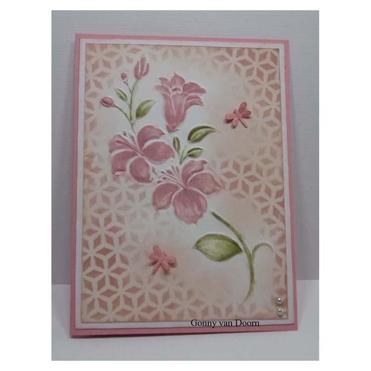 Ecstasy Crafts Nellies Choice A4 Embossing Folder Small Flowers