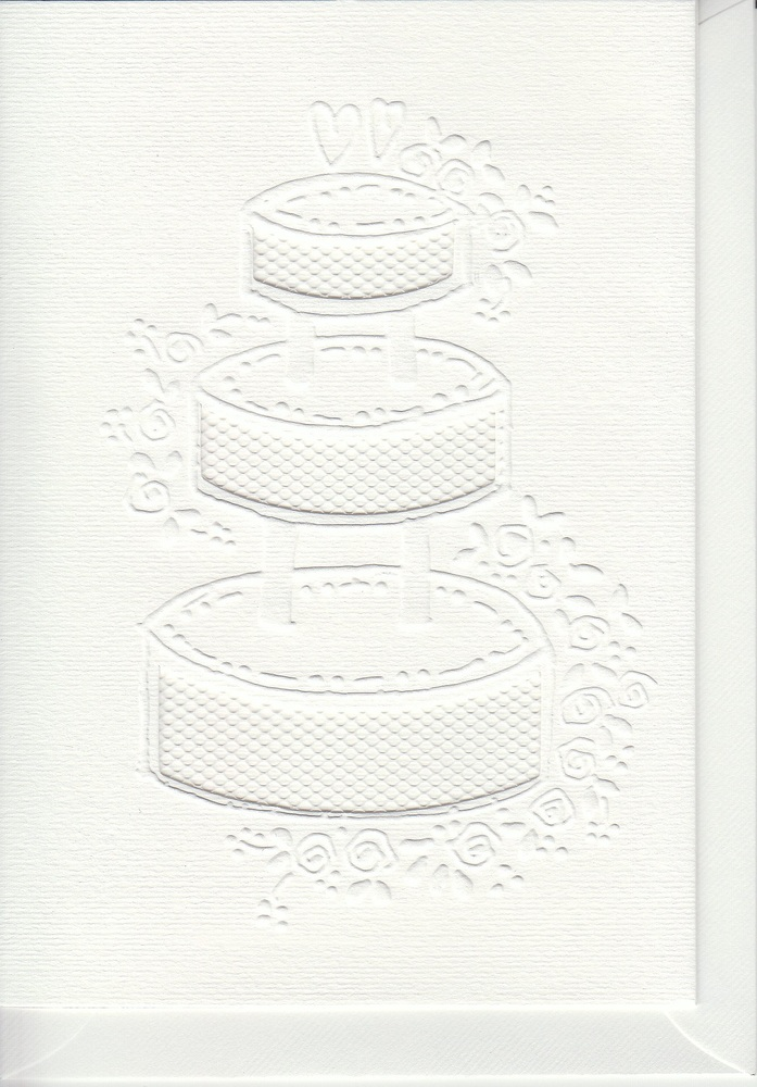 Card Set -3 Cards/envelopes - Cake