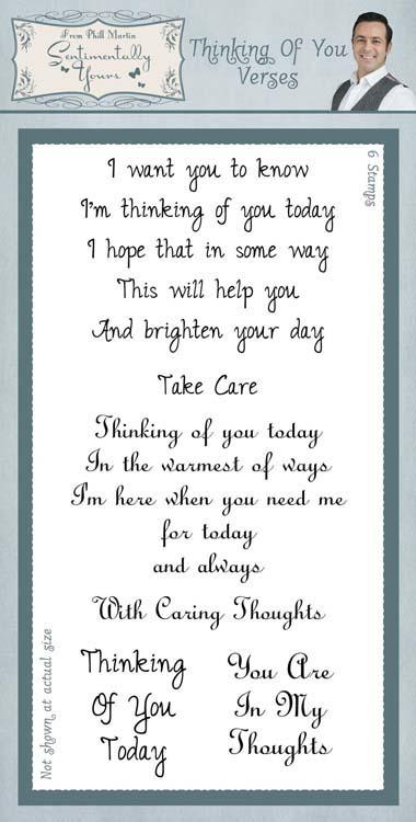 PHIL MARTIN Sentimentally Yours SPECIAL DAY VERSES Clear Stamps SYC011
