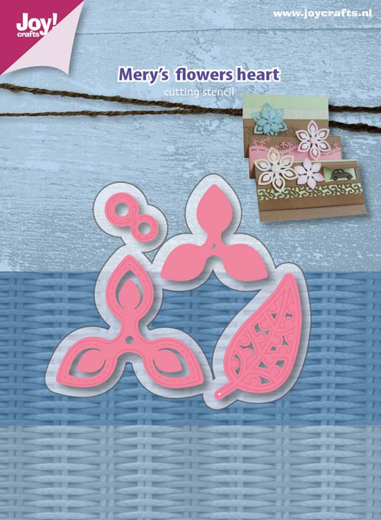 Joy! Crafts Die - Mery's Flowers Heart (4)