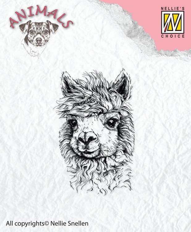 Ecstasy Crafts Nellie's Choice Clear Stamp Animals - Lama