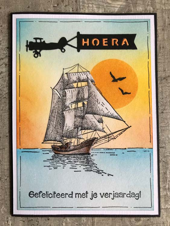 Ecstasy Crafts Nellie's Choice Clear Stamp Men's Things - Sailing Boat