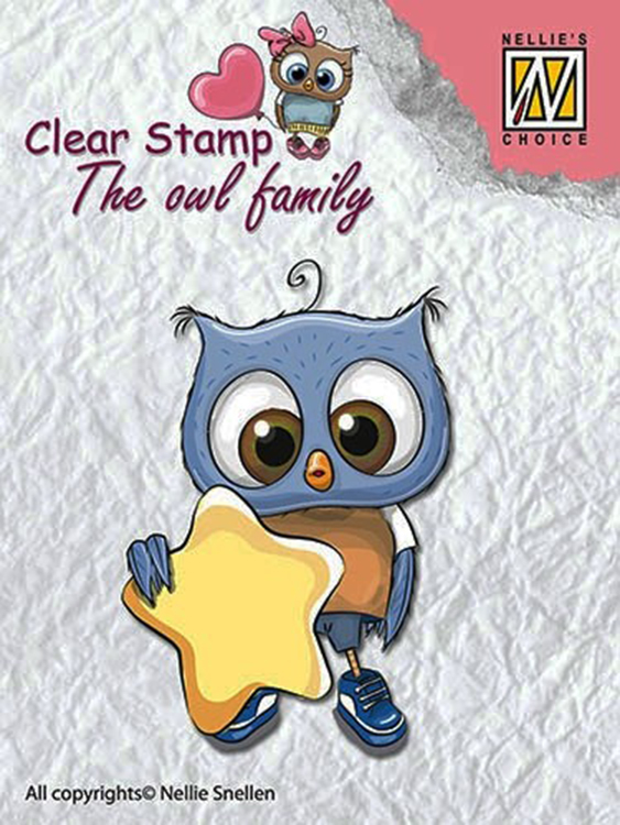 Ecstasy Crafts Nellie's Choice Clear Stamp The Owl Family - Star