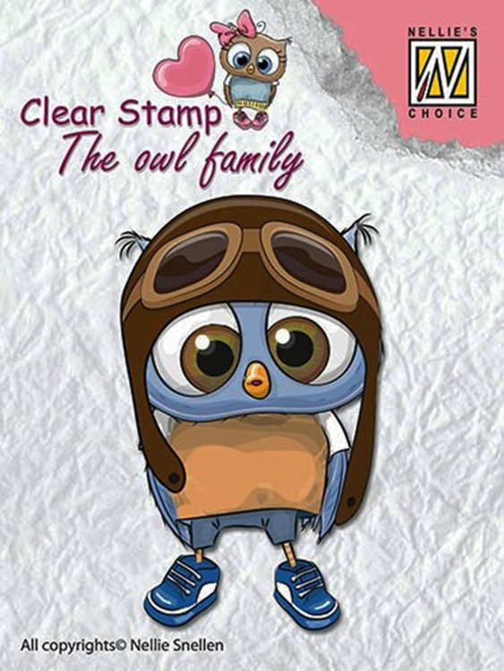 Ecstasy Crafts Nellie's Choice Clear Stamp The Owl Family - Family Pilot