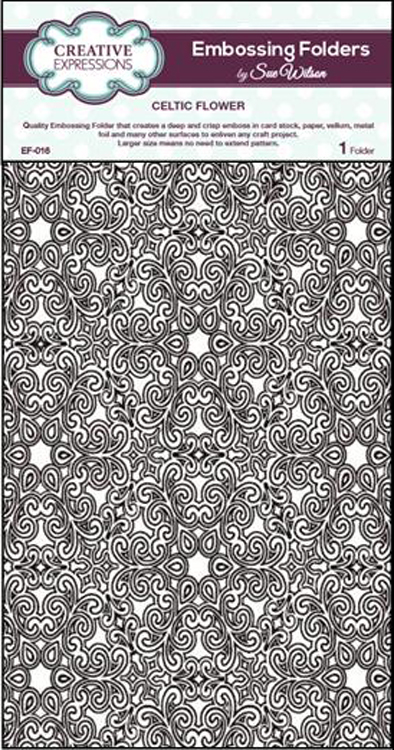 Creative Expressions Embossing Folder - Celtic Flower A4