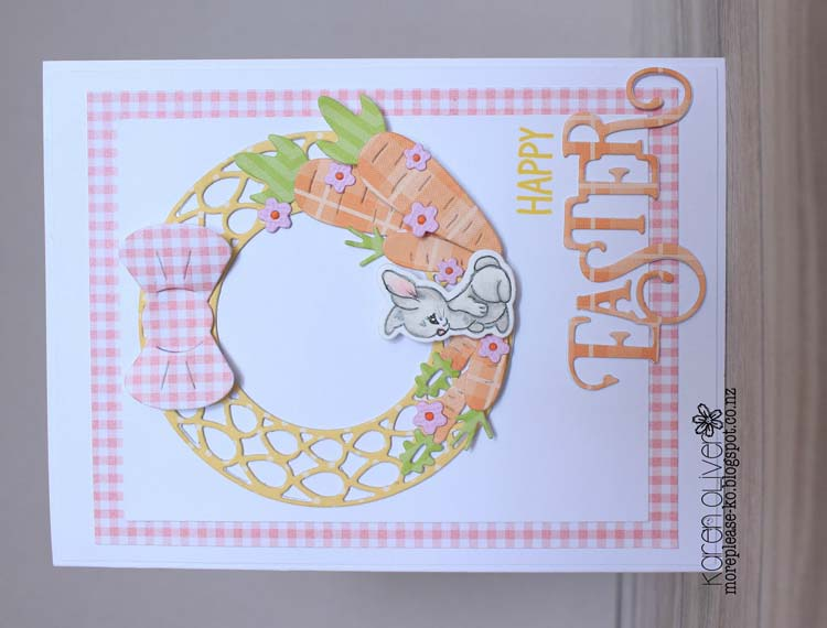 Ecstasy Crafts Frantic Stamper Precision Die - Easter Greetings Stamp Matchers