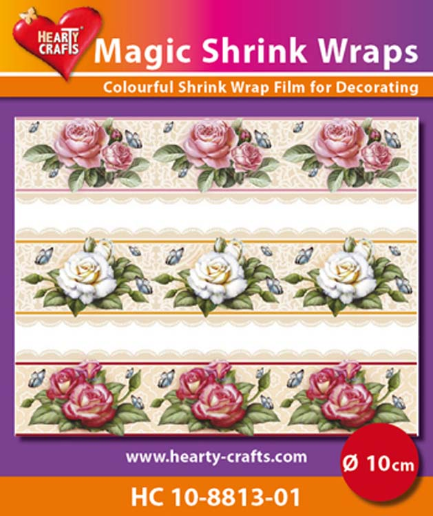 Hearty Crafts Magic Shrink Wraps Roses (10Cm)