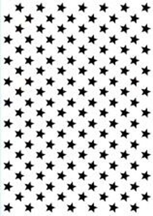 Ecstasy Crafts Hobby Solution Embossing Folder Christmas - Background Stars