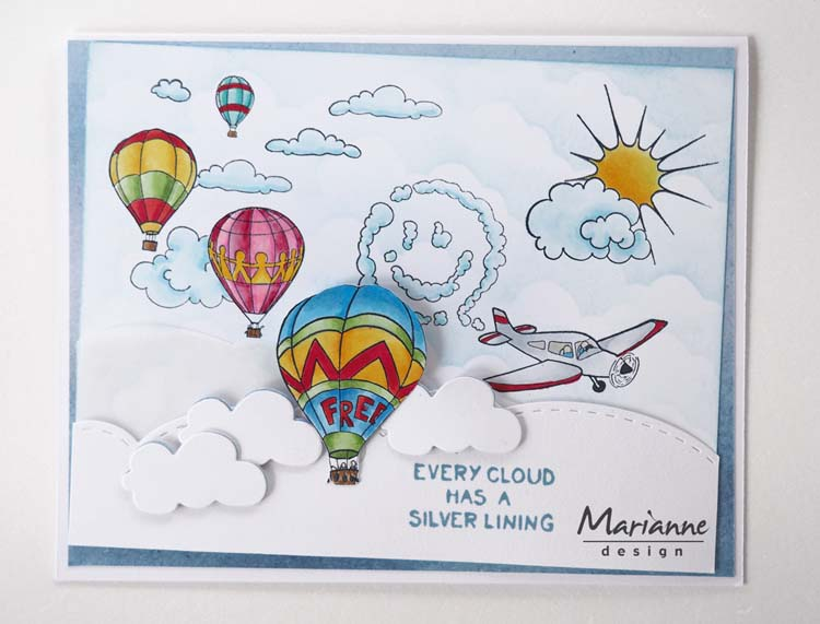 Ecstasy Crafts Marianne Design Stamps Hetty's Border: Sky Is The Limit