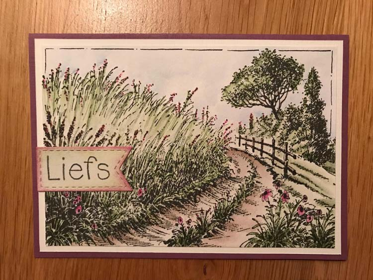 Ecstasy Crafts Nellie's Choice Clear Stamp Idyllic Floral Scenes - Cornfield And Country Road