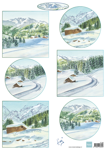 Marianne Design Cutting Sheet Tiny's Winter Landscapes 1