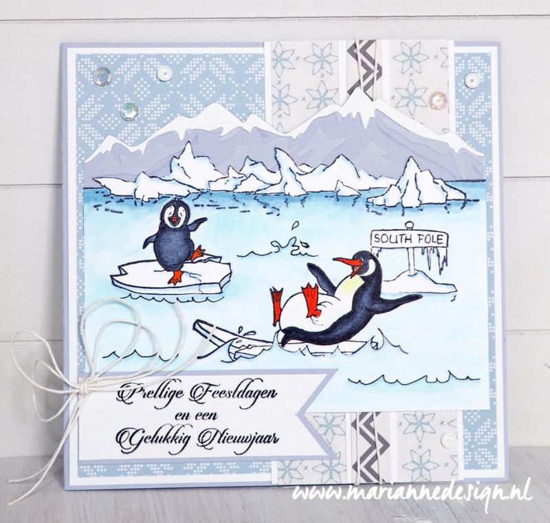Ecstasy Crafts Marianne Design Creatables Horizon Snowy Mountains