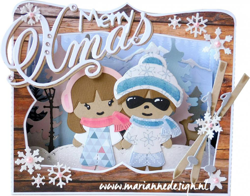 Ecstasy Crafts Marianne Design Creatables Kim's Buddies Winter Set