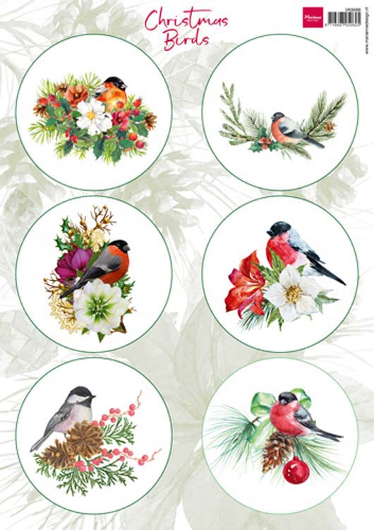 Ecstasy Crafts Marianne Design Cutting Sheet Christmas Birds 1