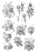 Ecstasy Crafts Craft Uk Floral -Tulip - Silver