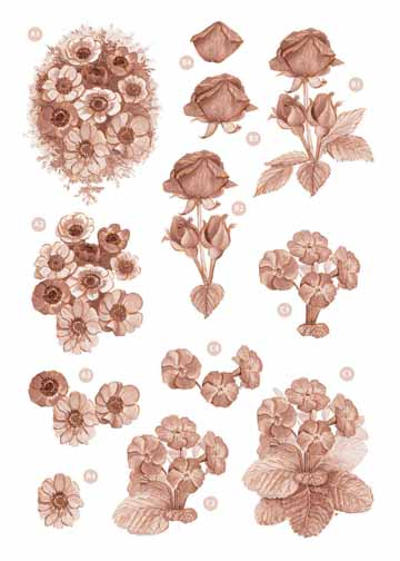 Craft UK Copper Flowers -Roses/violets