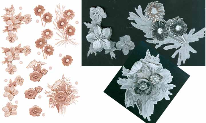 Craft UK Copper Flowers -Wildflowers