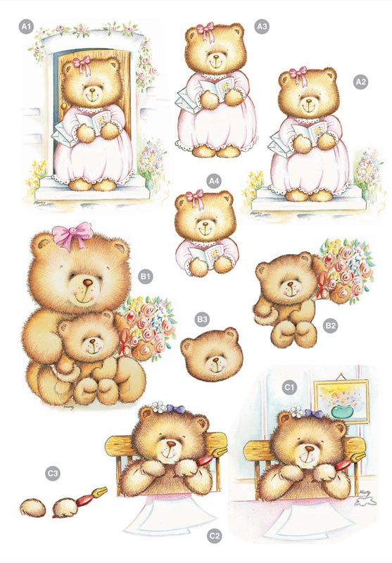 Ecstasy Crafts Craft Uk Cute Girly Bears .