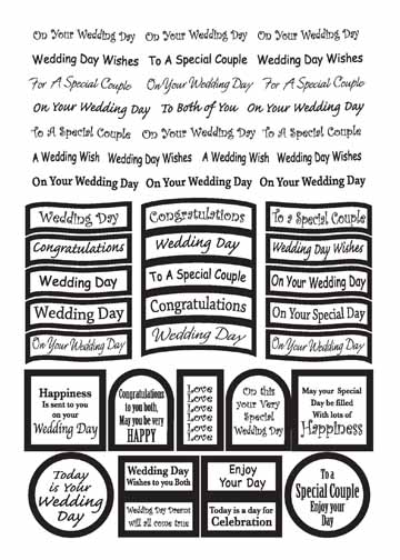 Ecstasy Crafts Craft Uk Caption - Wedding Gold Foil
