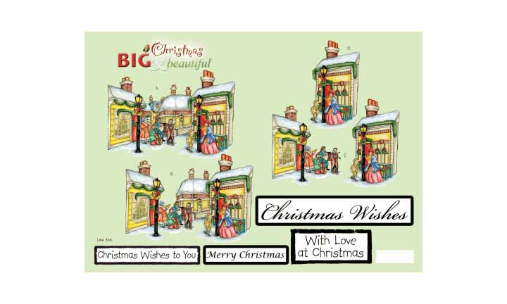 Craft UK B&b Christmas Street Scene