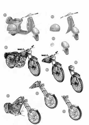 Craft UK Black & White Motorcycles/scooter